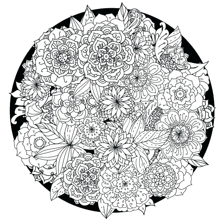 736x736 Flower Mandala Coloring Pages Free Printable Abstract Coloring