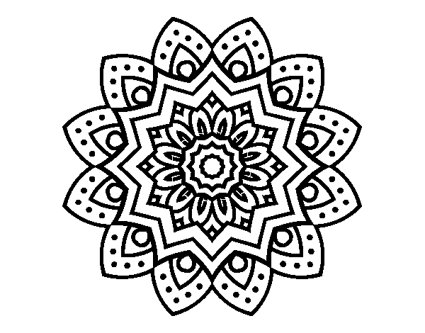 600x470 Flower Mandala Coloring Pages Natural Flower Mandala