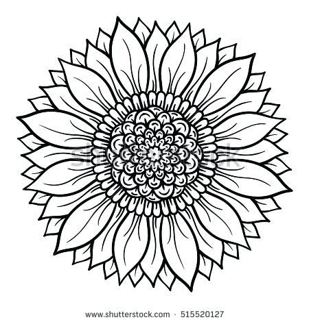 450x470 Flower Mandala Coloring Pages Vector Illustration Flower Mandala
