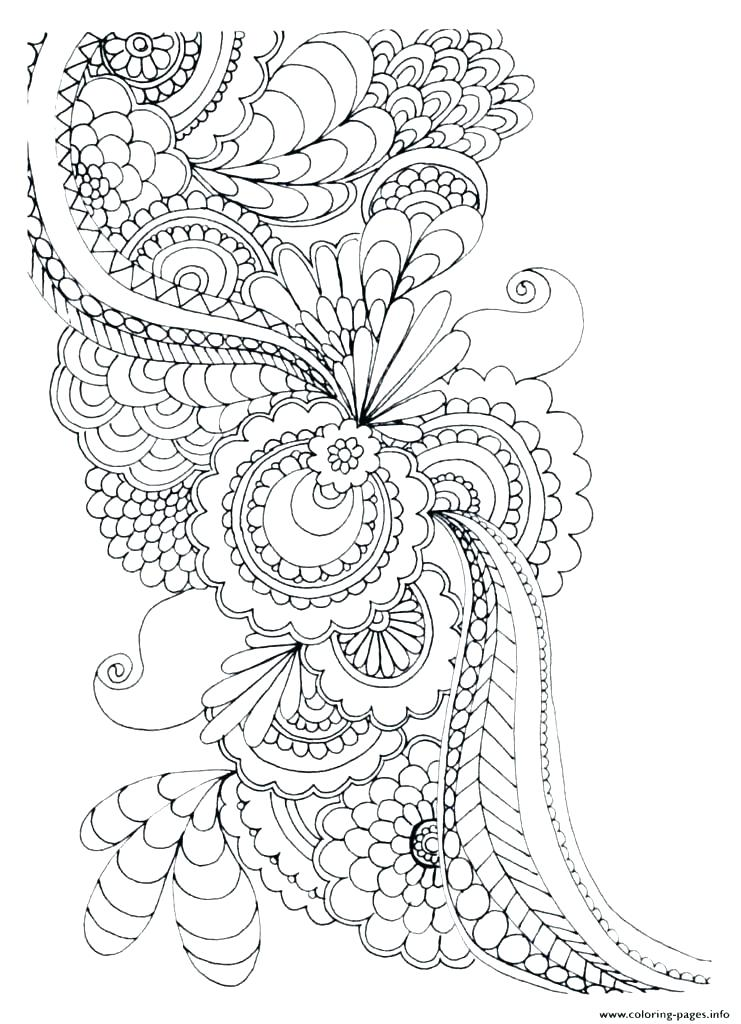 741x1024 Flower Mandalas Coloring Book
