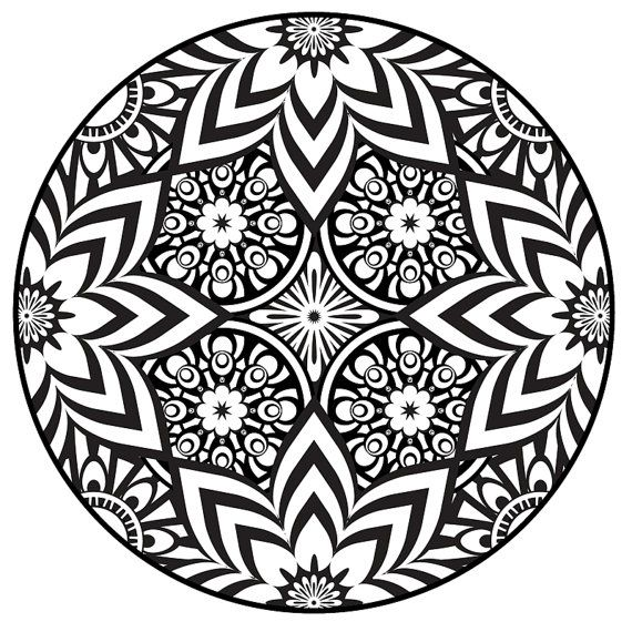 570x570 Free Coloring Pages Of Mandala Designs Flowers On Printable