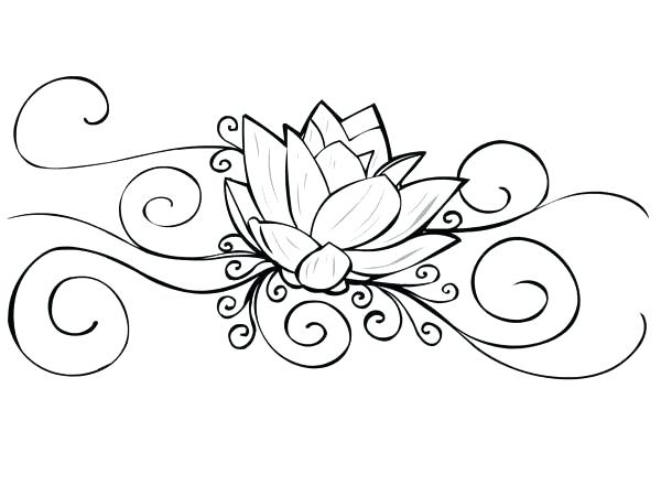 600x450 Lotus Mandala Coloring Pages Appealing Easy Flower Coloring Pages