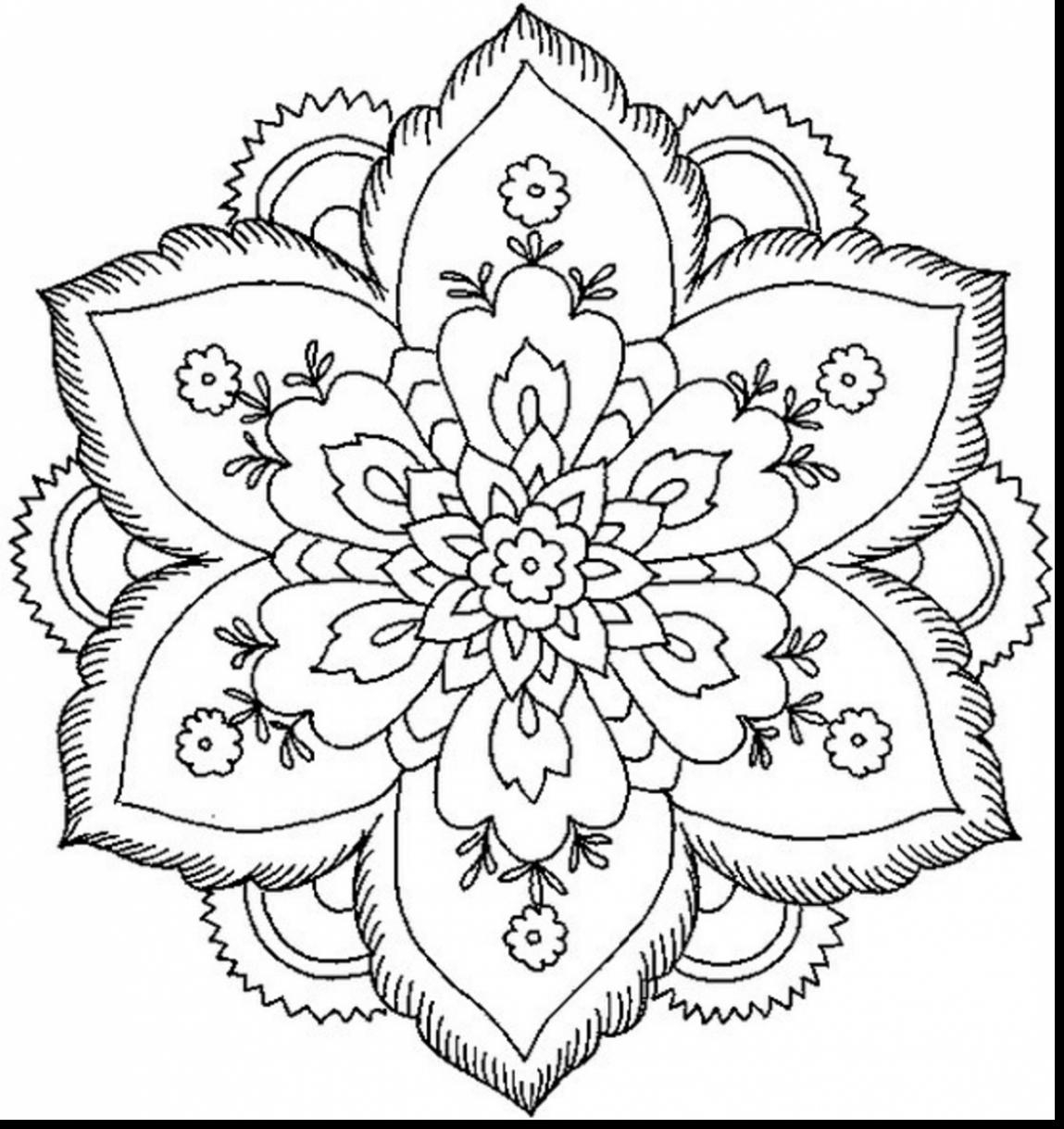 1149x1219 New Stunning Nature Flower Mandala Coloring Pages With Coloring