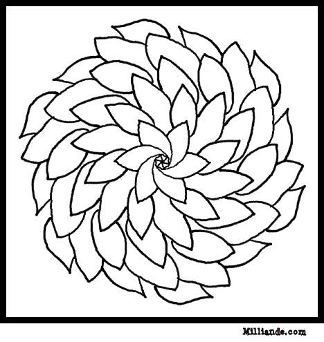 468x495 Flower Page Printable Coloring Sheets Flower Mandala Coloring