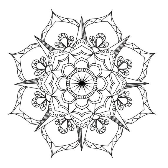 570x570 Flower Mandala Coloring Pages Flower Mandala Coloring Pages Best