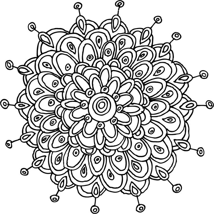 736x733 Flower Mandala Coloring Pages