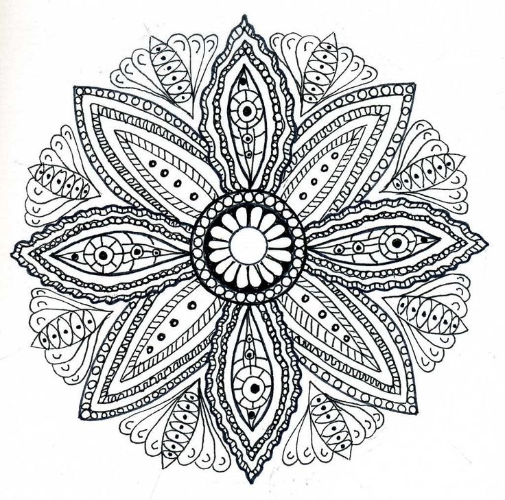 736x729 Flower Mandala Coloring Pages Image Collections