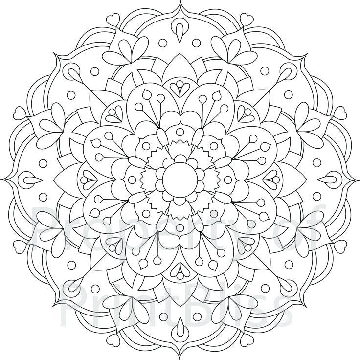 Flower Mandala Coloring Pages Printable At Getdrawings Com