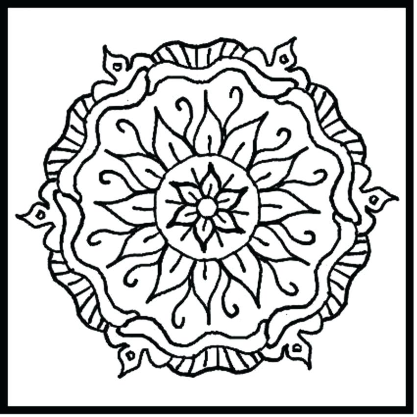 851x850 Inspirational Flower Design Coloring Pages For Flower Designs