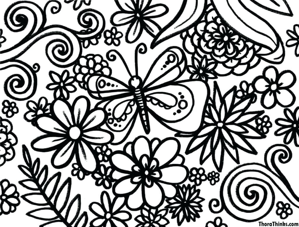 1024x778 Coloring Pages Flower Coloring Pages Printable Amazing Free