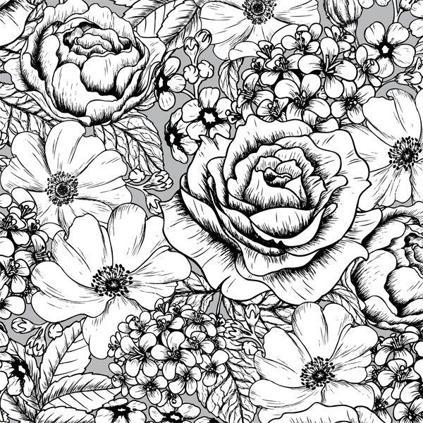 600x600 Big Flower Patterns To Color A Page Of Gorgeous Flowers