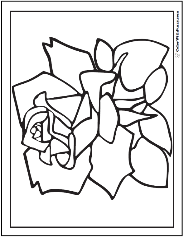 Flower Petals Coloring Pages