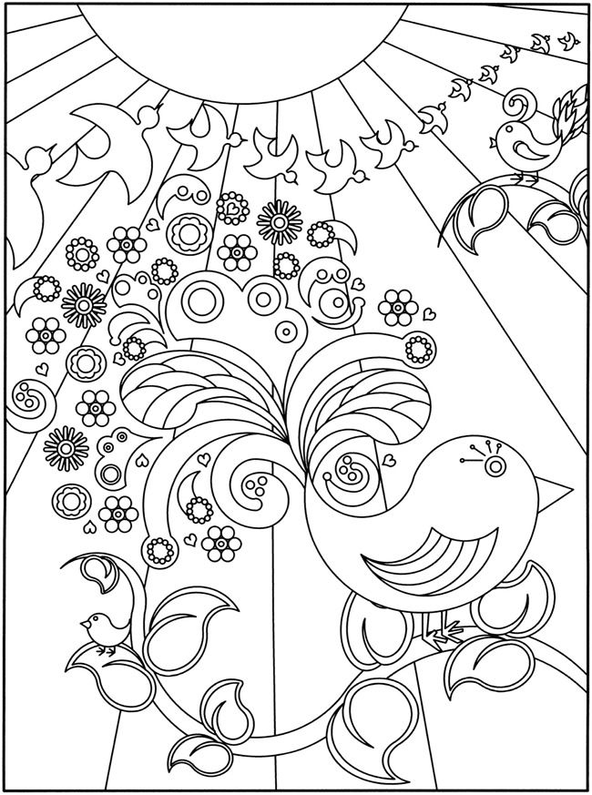 650x873 D Coloring Book Flower Power! Doodles