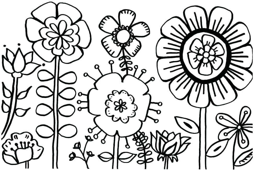970x653 Flower Power Coloring Pages