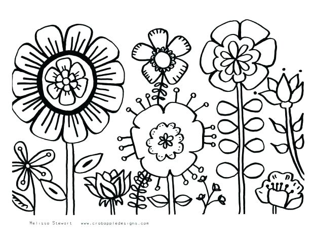 618x477 Flower Power Coloring Pages Flower Power Coloring Pages