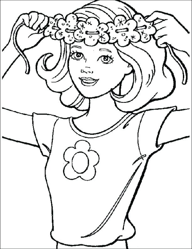 612x792 Flower Power Coloring Pages Flower Power Skipper A Barbie Coloring