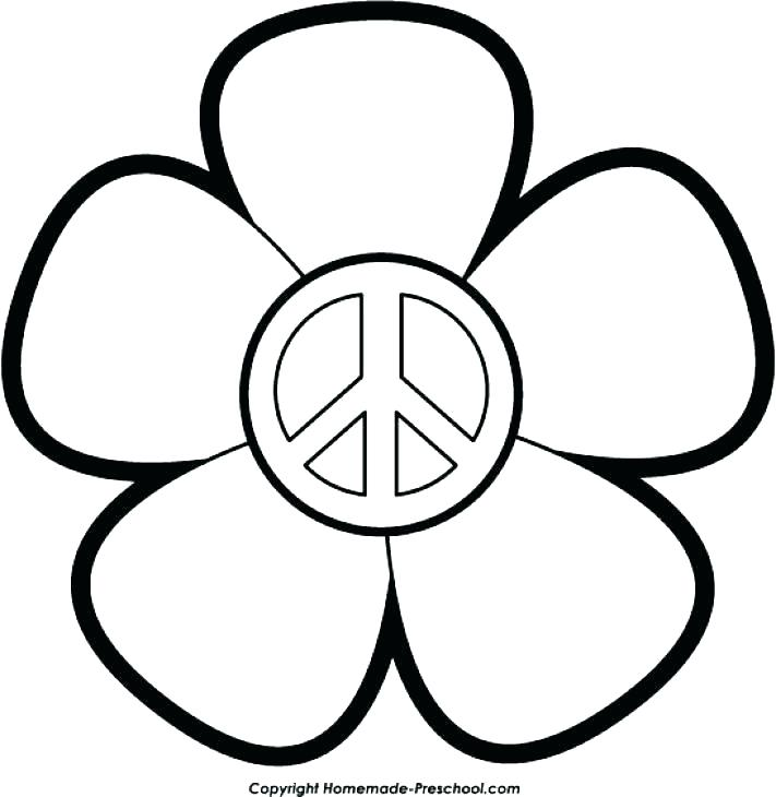 711x730 Peace Signs Coloring Pages