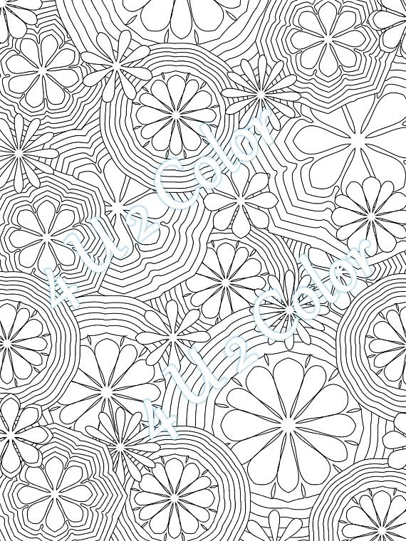 570x760 Coloring Page Flower Power Coloring Page Flower Power