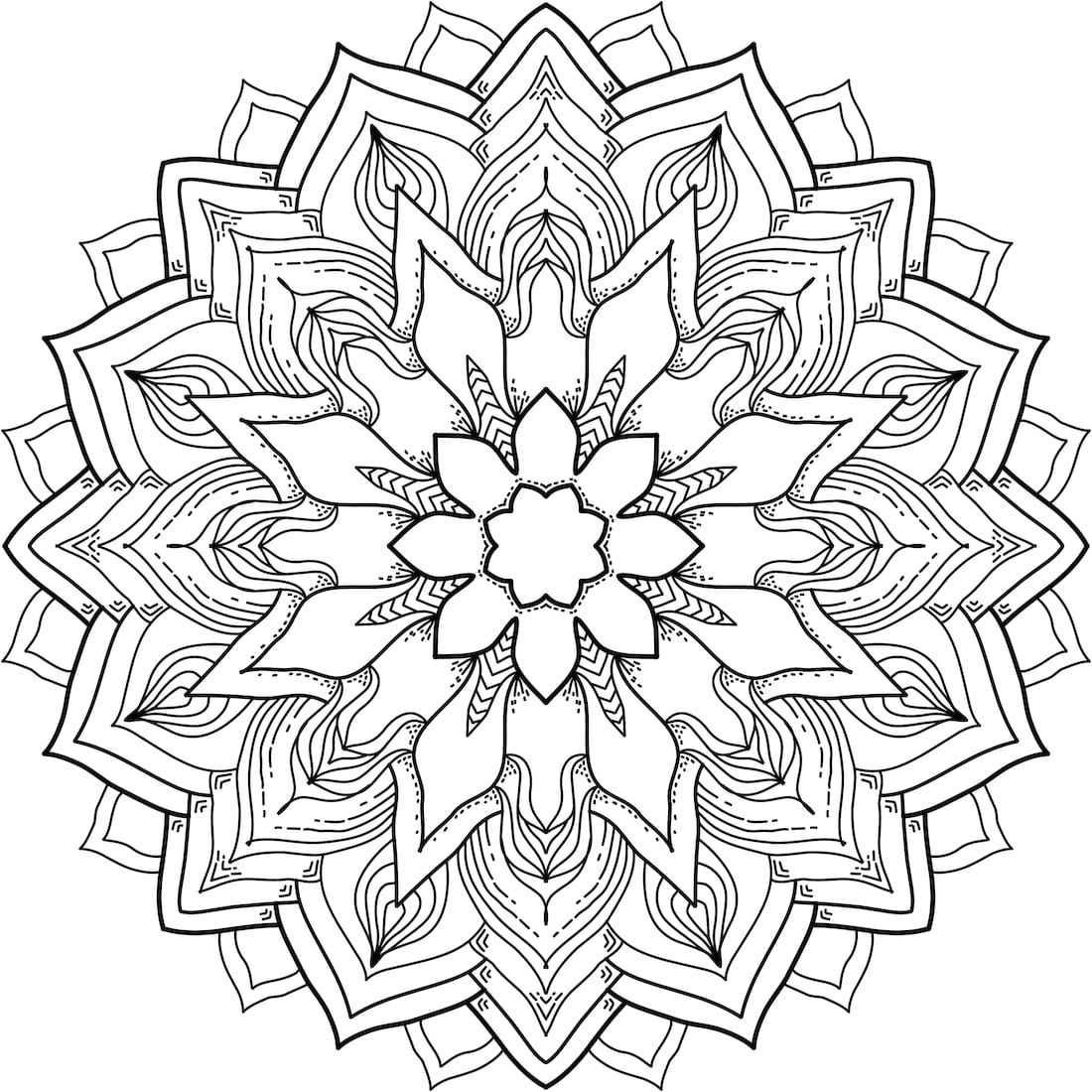 1100x1100 Best Of Flower Mandala Coloring Pages Gallery Printable Coloring