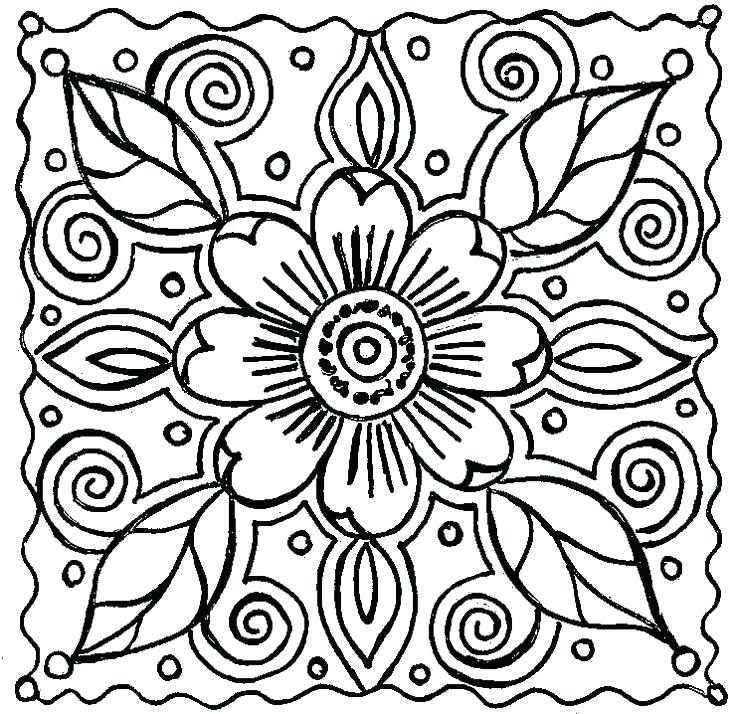 736x714 Simple Flower Coloring Pages Flower Print Out Coloring Pages Best