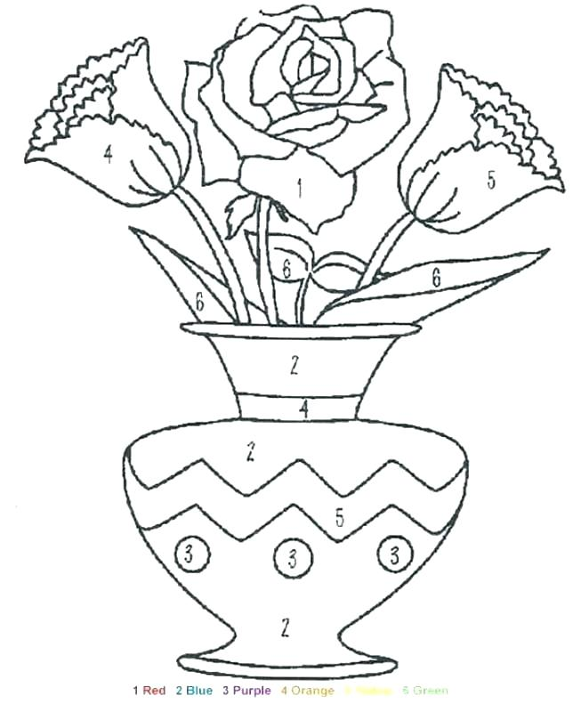 644x800 Coloring Page Of Flowers
