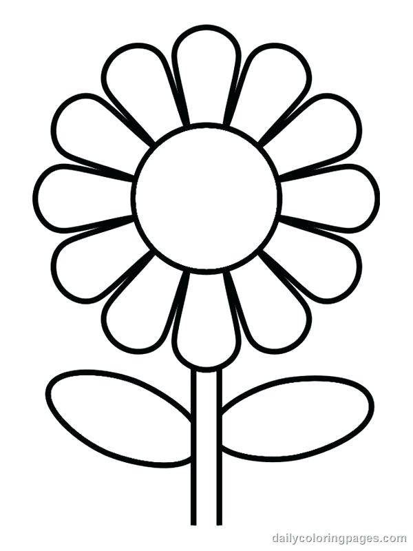 600x800 Coloring Pages For Flowers Flower Print Out Coloring Pages
