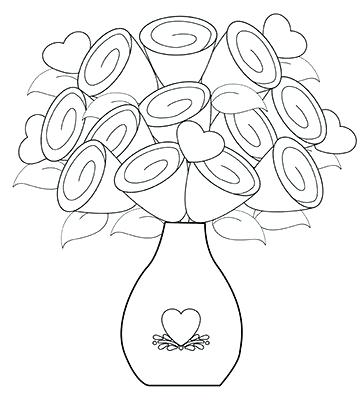 360x400 Flower Vase Coloring Page Coloring Pages Of Flowers In A Vase