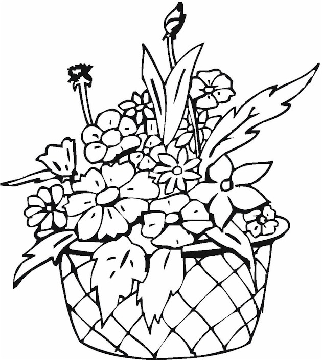 630x705 Free Coloring Pages Of Flower Vase
