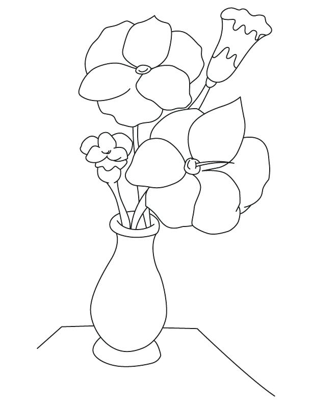 612x792 Printable Flower Vase Coloring Pages Gladiolus Flower Vase