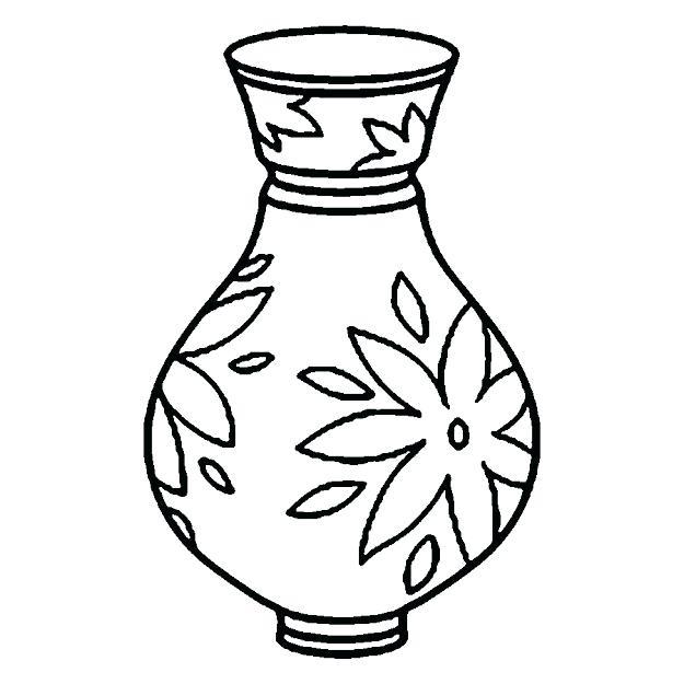 625x625 Brilliant Design Coloring Page Vase Flower Vase Coloring Page
