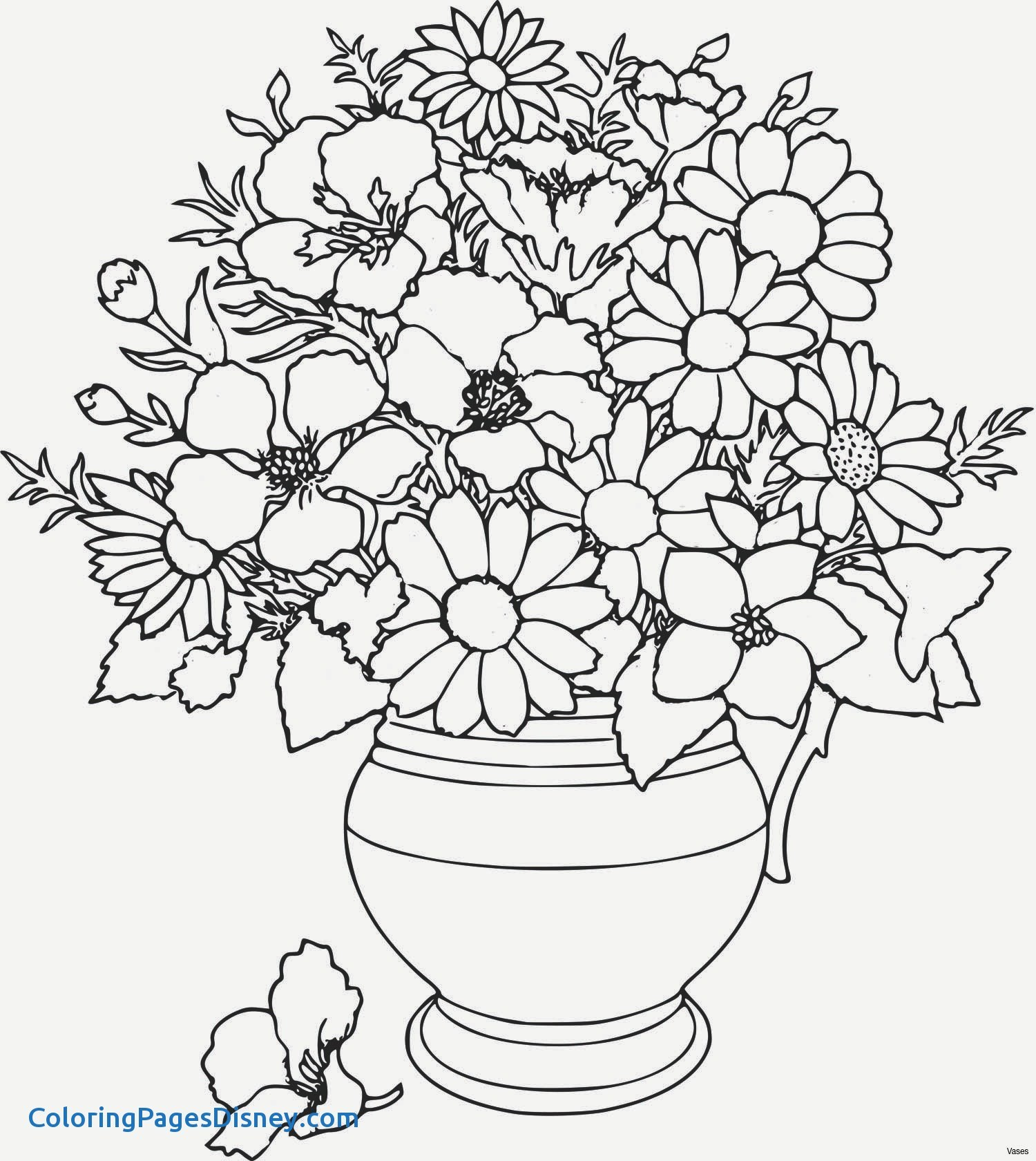 1500x1680 Coloring Pages Vase Fresh Coloring Pages Roses New Vases Flower