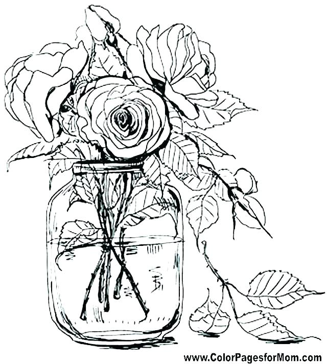 640x712 Flower Coloring Pages Pdf Flower Coloring Pages Capture Excellent