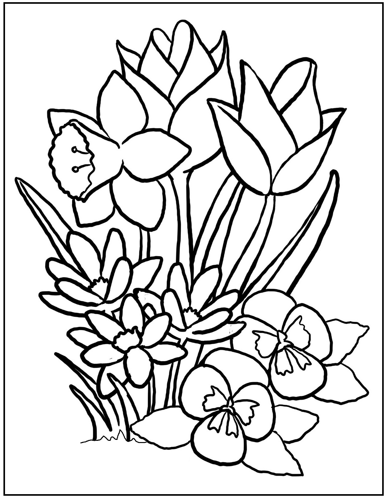 1244x1600 Unique Stock Of Coloring Pages Flowers Coloring Pages