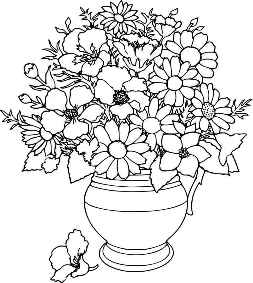 869x974 Flowers Coloring Pages Page Picgifs Com Picture Concept Printable