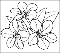 256x226 Flowers Coloring Pages