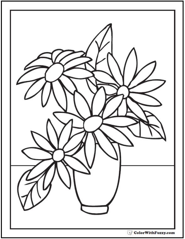 590x762 Types Of Flowers Coloring Pages