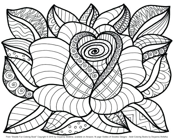596x480 Flower Coloring Page