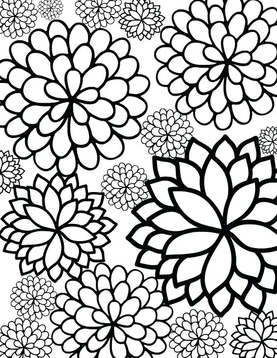 564x729 Appealing Free Coloring Pages Flowers Free Coloring Pages