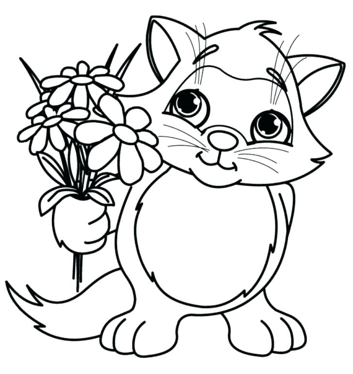 728x770 Charming Flower Color Pages Printable Coloring Pages Flowers