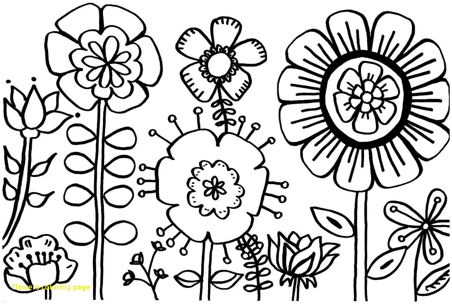 1510x1017 Flowers Coloring Page With Spring Flower Pages Printable Best