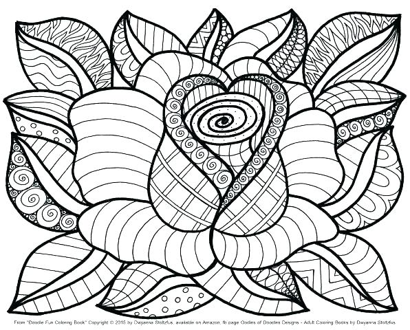 596x480 Flower Coloring Pages