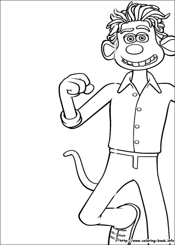 567x794 Flushed Away Coloring Pages On Coloring