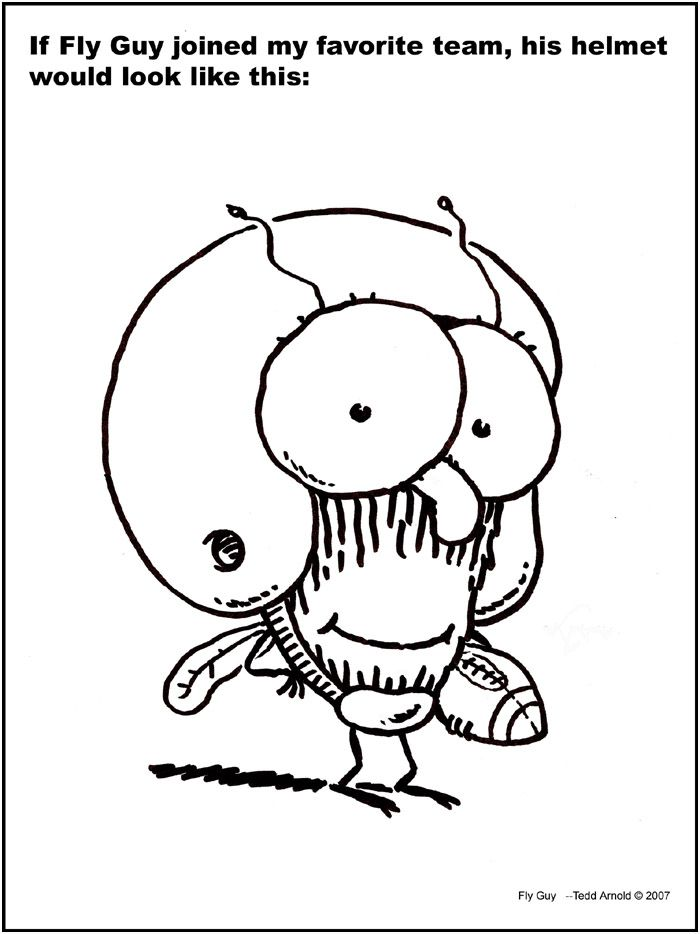 700x934 Free Fly Guy Coloring Pages