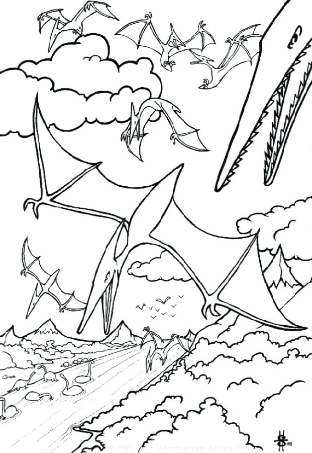 621x900 Pterodactyl Coloring Page Pterodactyl Coloring Page Coloring Page