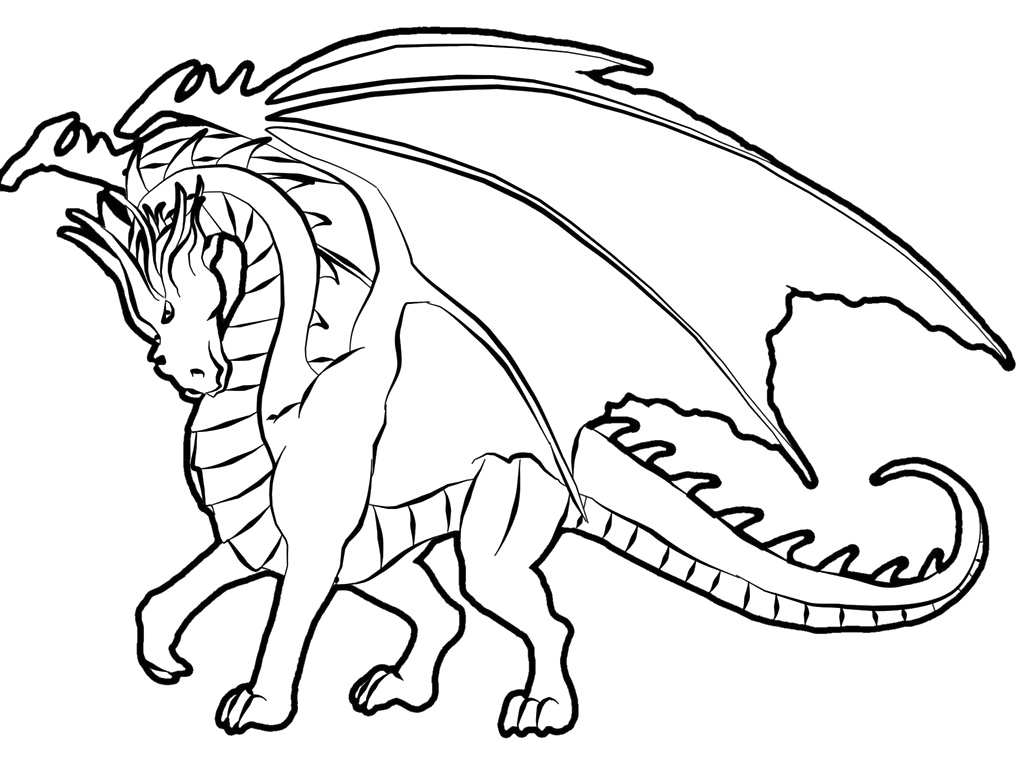 1016x767 Dragon Coloring Pages