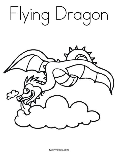 468x605 Flying Dragon Coloring Page From Mom I'm Bored