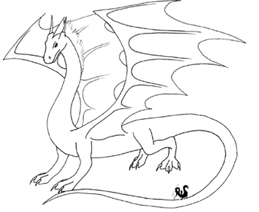 1050x861 Flying Dragon Coloring Pages