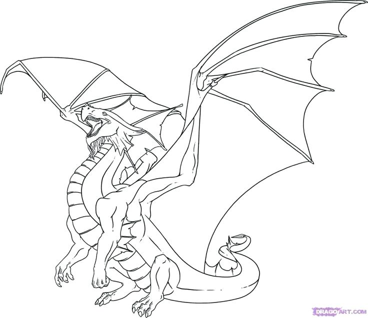 736x637 Flying Dragon Coloring Pages