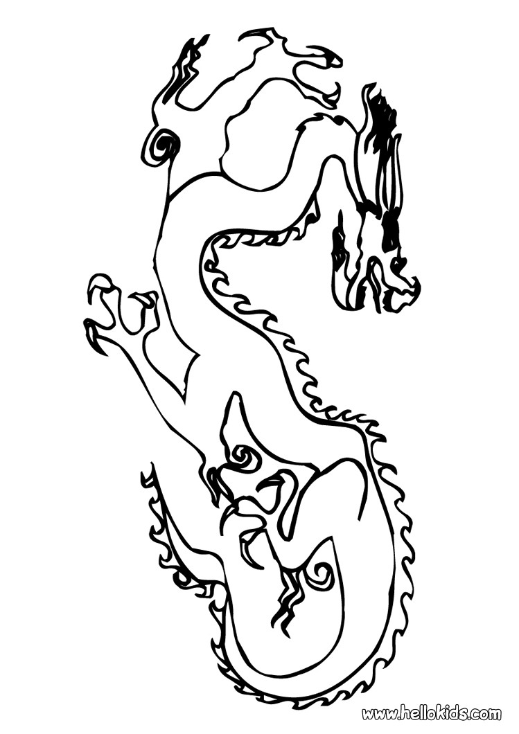749x1060 Flying Dragon Coloring Pages