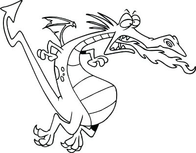 400x313 Beautiful Flying Dragon Coloring Pages And Dragon Coloring Pages